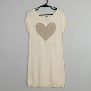 Old Navy Heart Sweater Dress White Size 5T